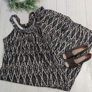 Faded Glory printed floor length maxi dress